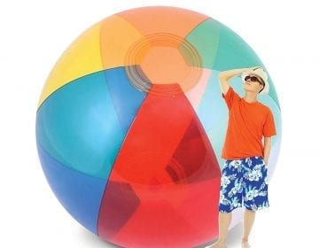 Giant Transparent Beach Ball