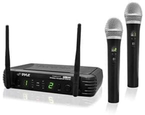 Pyle Professional Dual UHF Band Wireless Handheld Microphone