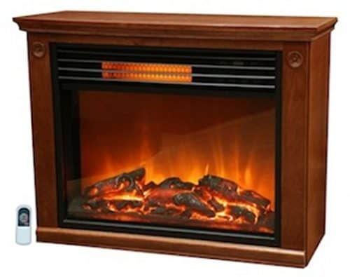 Lifesmart Large Room Infrared Fireplace in Burnished Oak & Remote