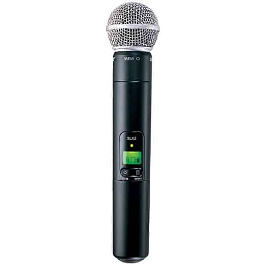 Shure SLX2/SM58 Handheld Transmitter with SM58 Microphone