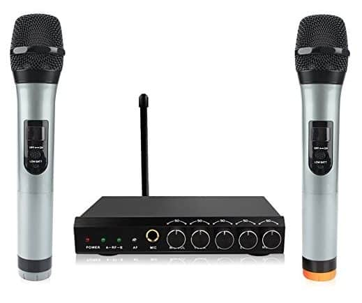Archeer Bluetooth Wireless Microphone System VHF Dual Channel