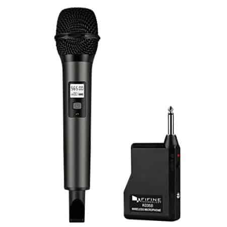 Fifine Wireless Microphone System with Portable Receiver