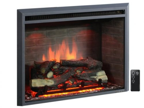 PuraFlame 33″ Western Electric Fireplace Insert with Remote Control