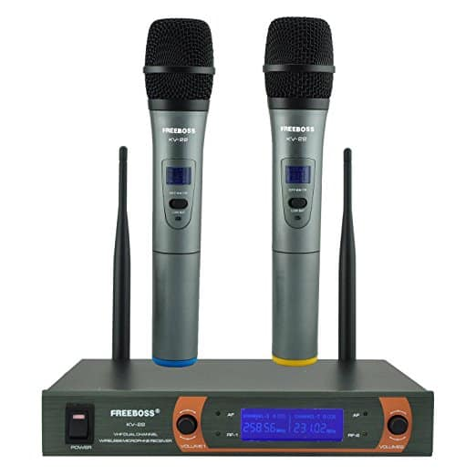Freeboss KV-22 VHF Dual Way Handheld Wireless Microphone
