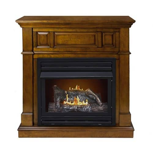 Pleasant Hearth Convertible Vent-Free Dual Fuel Fireplace