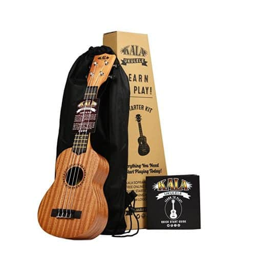 Official Kala Learn to Play Ukulele Starter Kit, Light Mahogany