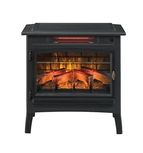 Duraflame DFI-5010-01 Infrared Quartz Fireplace Stove with 3D Flame
