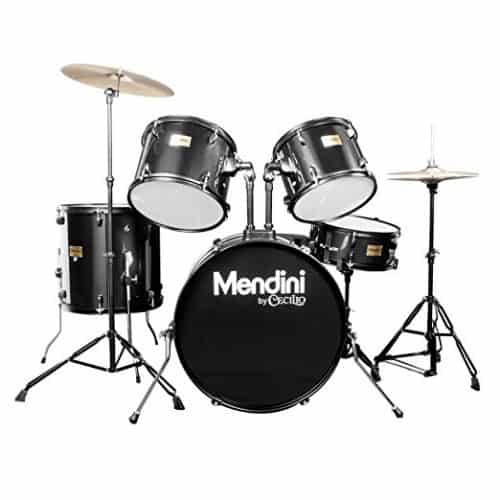 Mendini by Cecilio Complete Full-Size 5-Piece Adult Drum Set