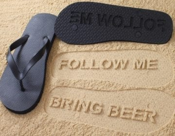 Follow Me Bring Beer Mens Flip Flops