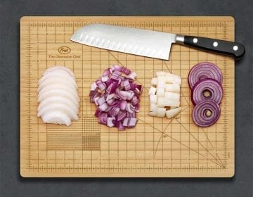 Gridded Bamboo Cutting Board
