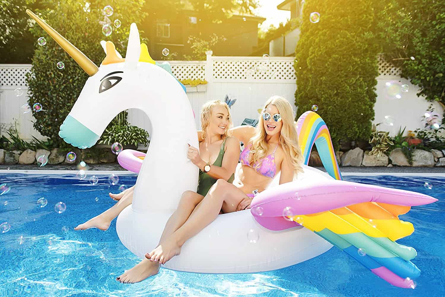 Captain Floaty Unicorn Pool Float
