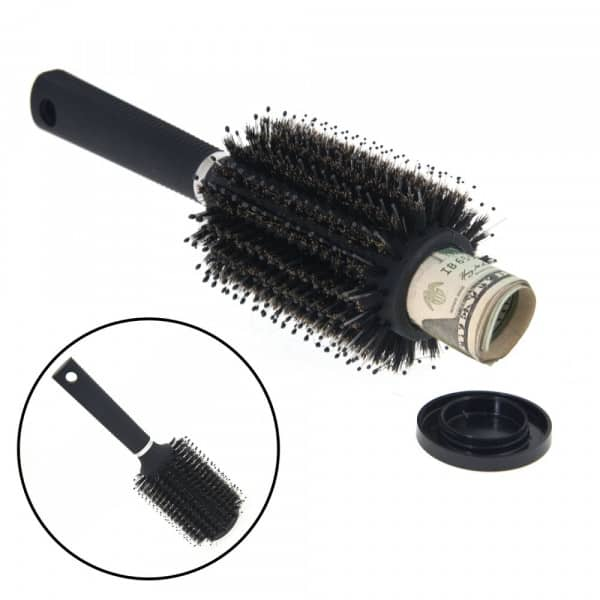 Hidden Safe Hair Brush Stash
