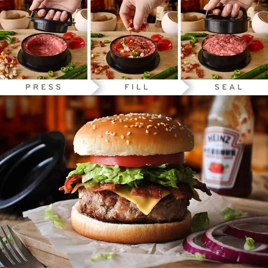 3-in-1 Burger Press