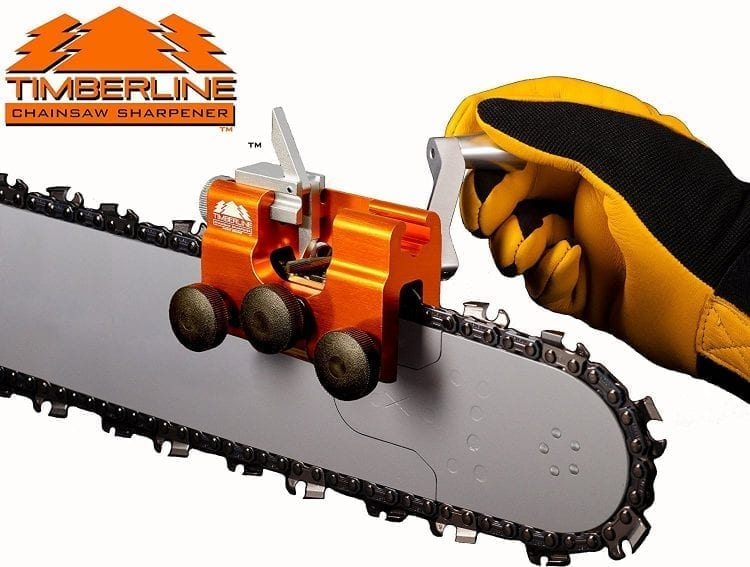 Timberline Chainsaw Sharpener with 3/16″ Carbide Cutter (for .325″ pitch chains)