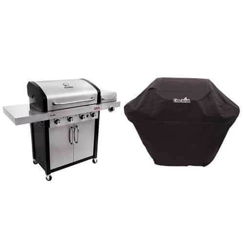 Char-Broil Professional TRU Infrared 4-Burner Cabinet Gas Grill + Cover