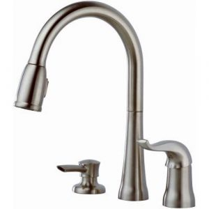 Delta 16970-SSSD-DST Single Handle Pull-Down Kitchen Faucet with Soap Dispenser