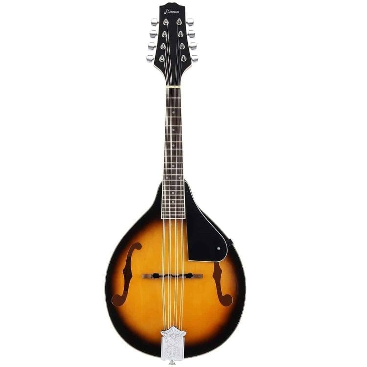 Donner A Style Mandolin Instrument Sunburst Mahogany DML-1 With Tuner String Big Bag and Guitar Picks