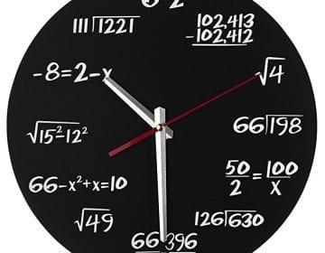 Math Equation Wall Clock
