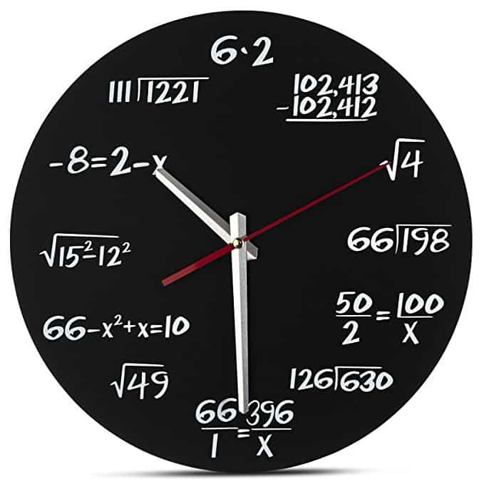 Math Equation Wall Clock