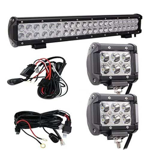 "Bangbangche 20"" 126W Flood Spot Combo Cree LED Light Bar"