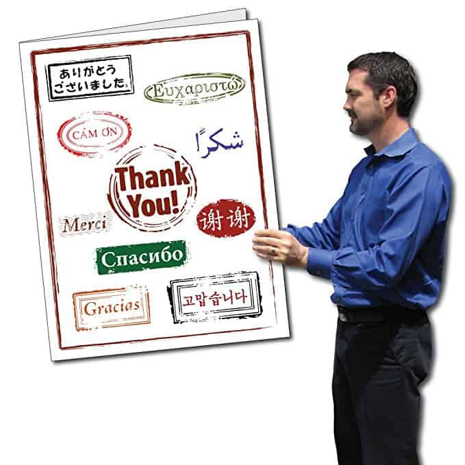 Giant Thank You Card with Envelope
