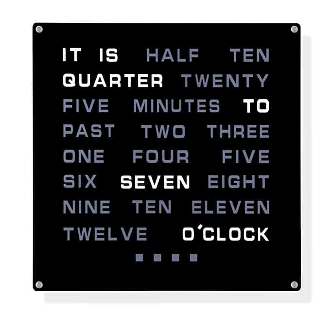 LED Clock with Time as Text