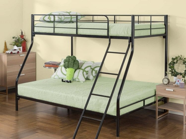 Zinus Easy Assembly Quick Lock Metal Bed, Twin over Full