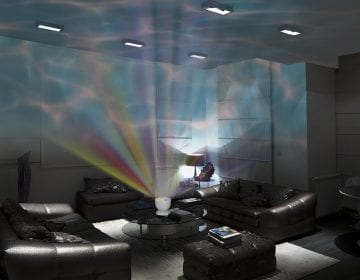 LED Night Light Projector with Stereo Speakers