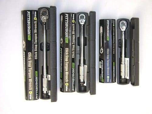 Pittsburgh Pro Reversible Click Type Torque Wrench Sizes 1/4″, 3/8″, 1/2″