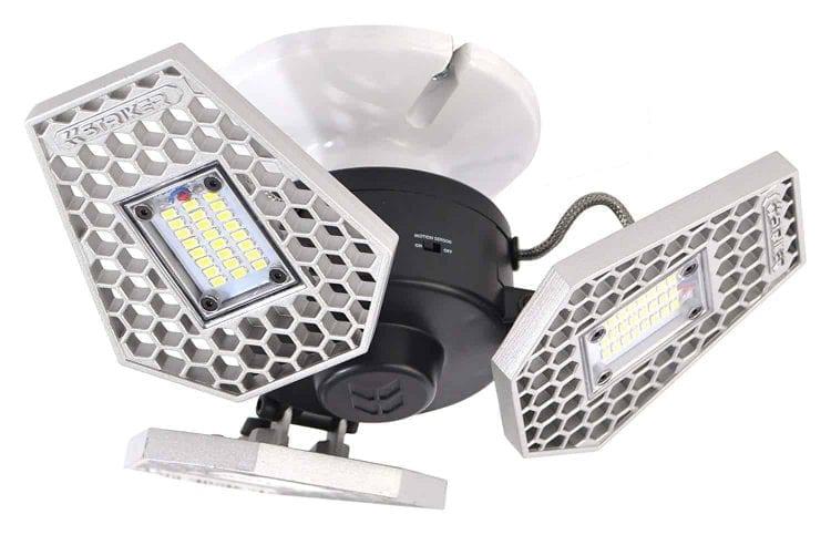 TriLight – 3000 Lumen Motion Activated Ceiling Light for Garage / Attic / Basement / Home