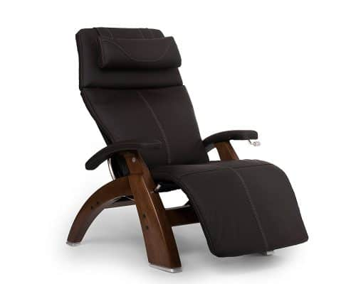 "Best Zero Gravity Recliner – Perfect Chair ""PC-420"" Top Grain Leather Hand-Crafted Zero-Gravity Walnut Manual Recliner"