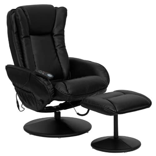 Best for the Home Office – Flash Furniture Massaging Black Leather Recliner