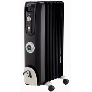 DeLonghi EW7707CB Safe Heat 1500W ComforTemp Portable Oil-Filled Radiator – Black