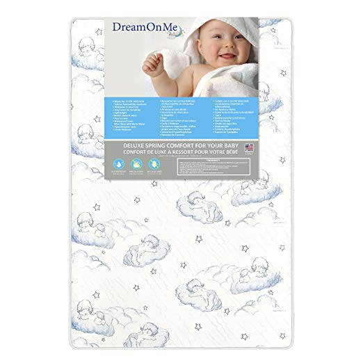 Dream On Me 3″ Spring Coil Mini / Portable Crib Mattress