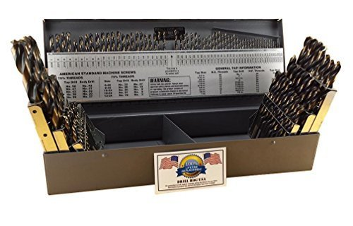 Drill Hog 115 Pc Drill Bit Set Letter Number Wire Gauge M7 Lifetime Warranty USA Made
