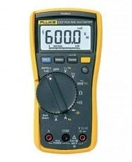 Fluke 117 Electricians True RMS Multimeter with a NIST-Traceable Calibration Certificate with Data