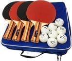 Four-Pack Pro Ping Pong Paddle Set