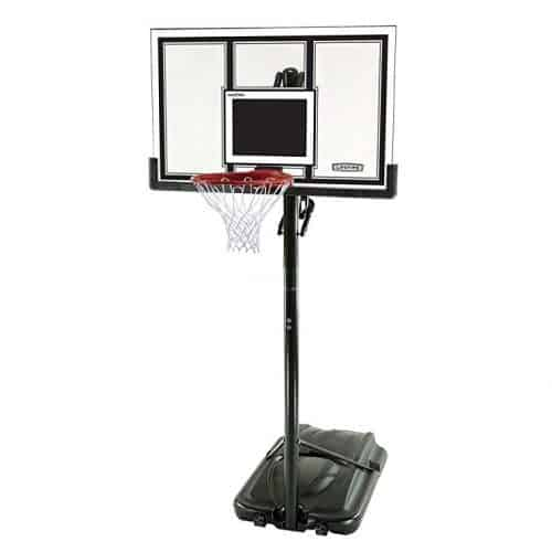 Lifetime 71524 XL Height Adjustable Portable Basketball System, 54-Inch Shatterproof Backboard