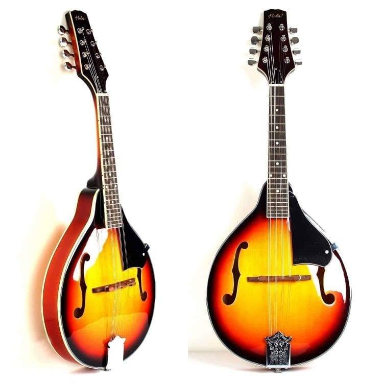 Hola! Music A Style Mandolin Instrument with Adjustable Truss-Rod Model HM-3TS, Glossy Sunburst Finish