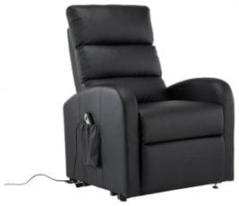 Most Stylish Recliner for Back Pain – Divano Roma Furniture – Classic Plush Bonded Leather Power Lift Recliner Living Room Chair