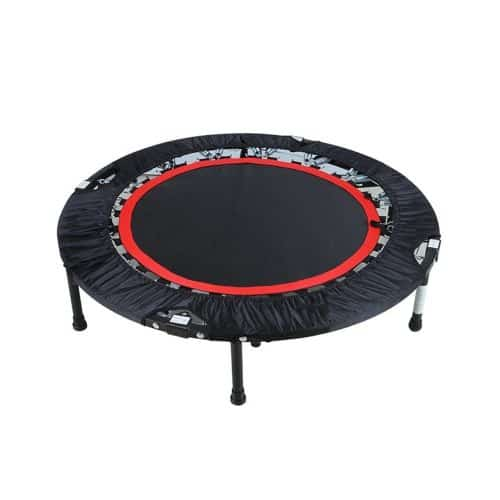 Rayhome 40 Inch Indoor Foldable Round Exercise Trampoline with Bar