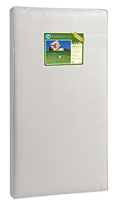 Sealy Soybean Foam-Core Infant/Toddler Crib Mattress – Hypoallergenic Soy Foam