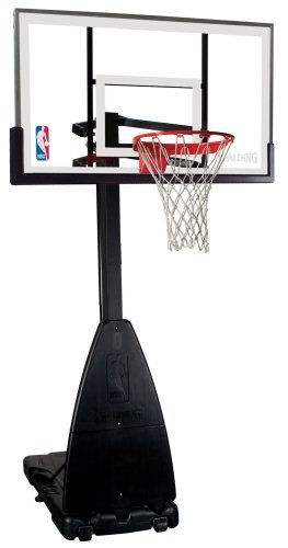 Spalding NBA Portable Basketball System – 54″ Glass Backboard