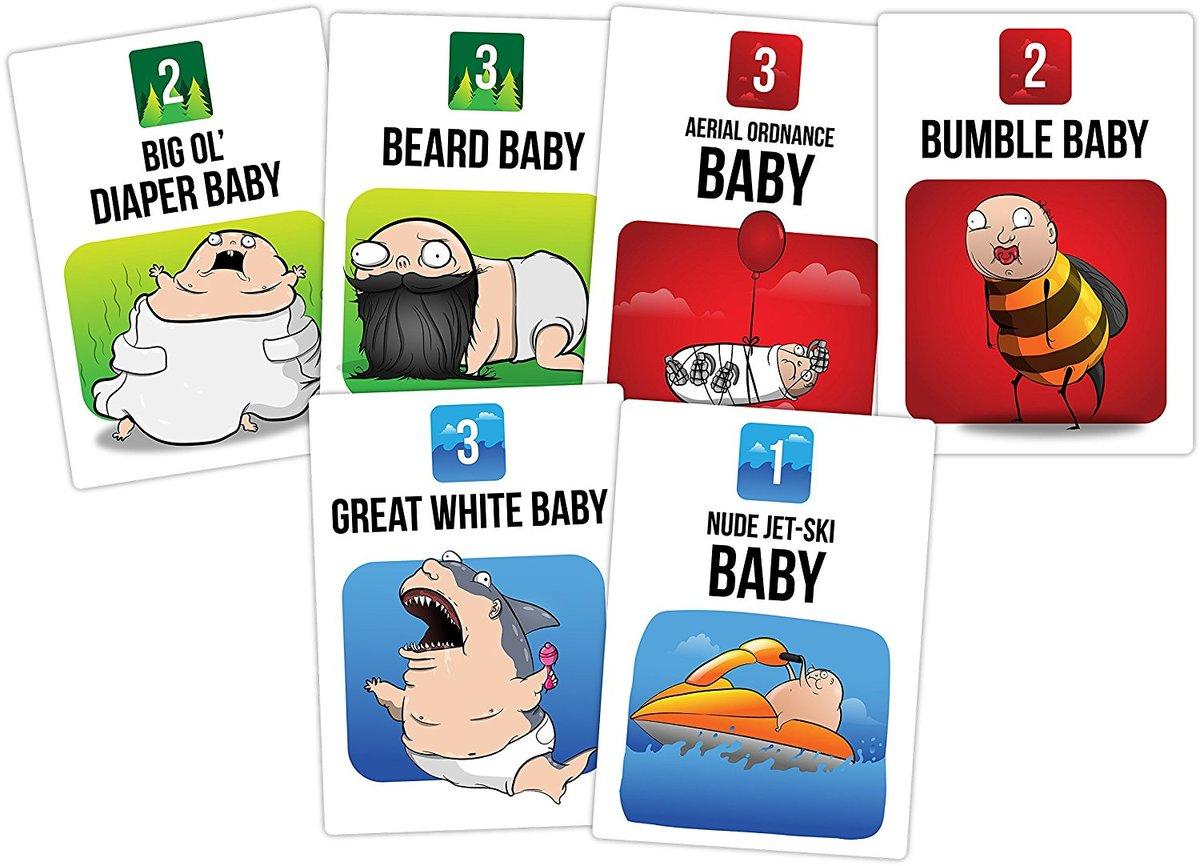 Bear VS Babies Card Game