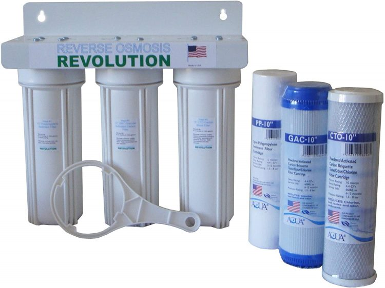 Whole House 3-Stage Water Filtration System, 1/2″ port