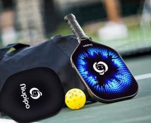 51LodTBrpL e1531155784295 300x244 - Niupipo Lightweight Graphite Pickleball Paddles Set