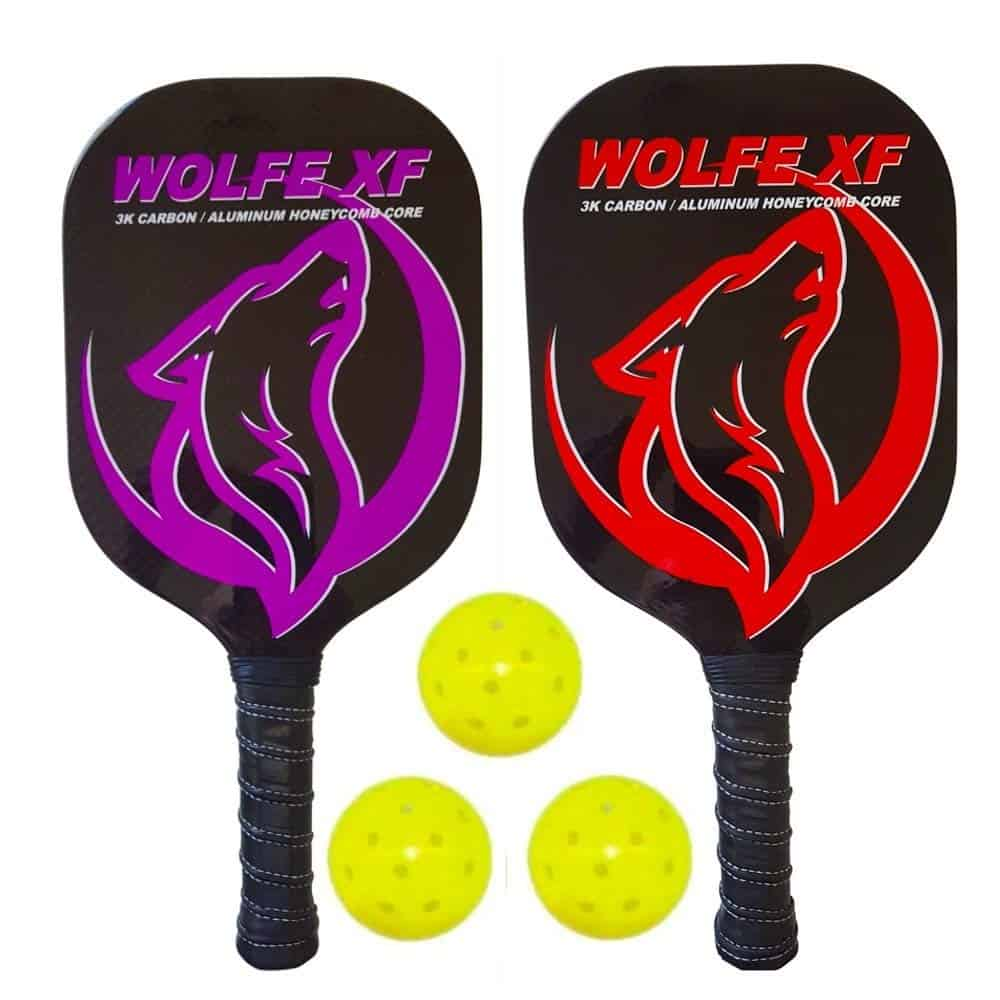 Wolfe XF Edgeless Graphite Pickleball Paddle Set