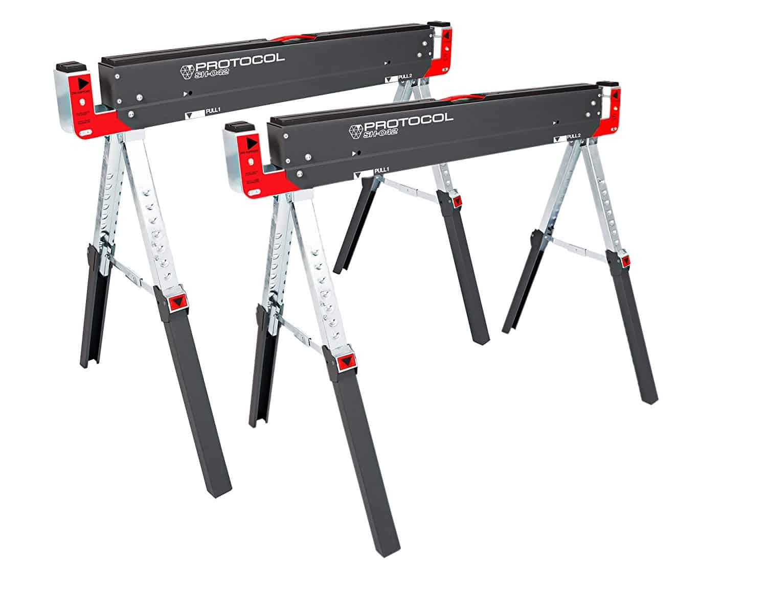PROTOCOL Equipment SH-042 Work Shop Adjustable Sawhorse