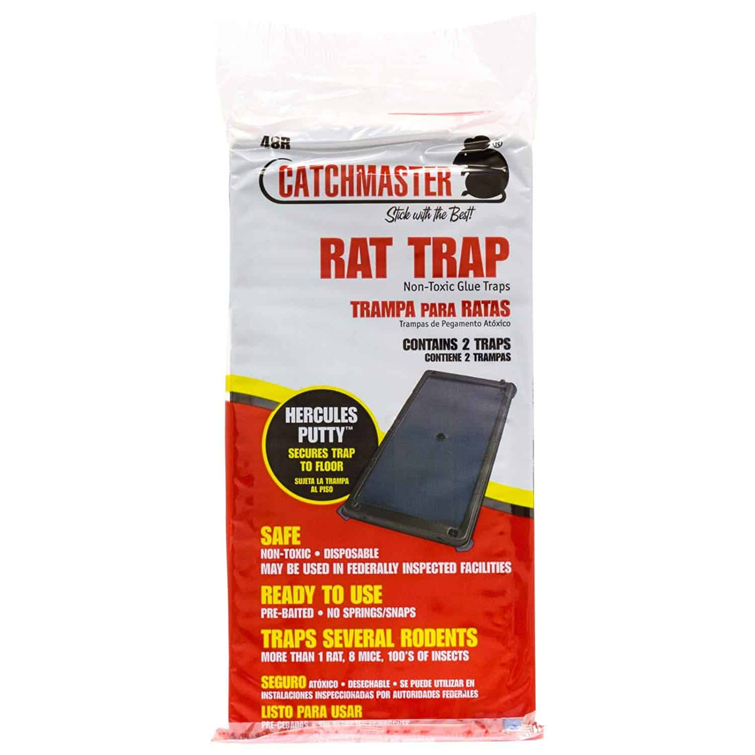 Rat Glue Boards 48 Pack Rats Snakes Mice Catchmaster