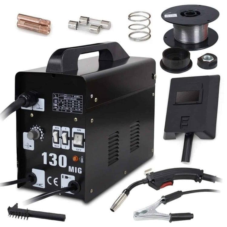 Commercial MIG 130 AC Flux Core Wire Automatic Feed Welder